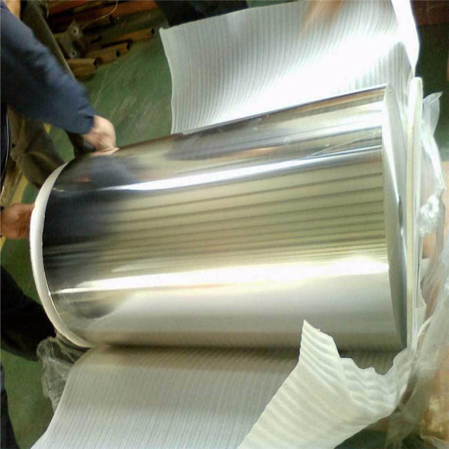 China 3xxx 1xxx Cladding Mirror Aluminum Coil Roll with Protective Blue Film