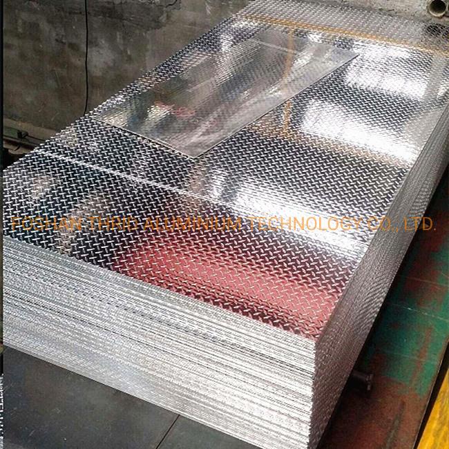 Five Bars Embossed Aluminum Plate Metal for Bus Plate Anti-Slip Board
