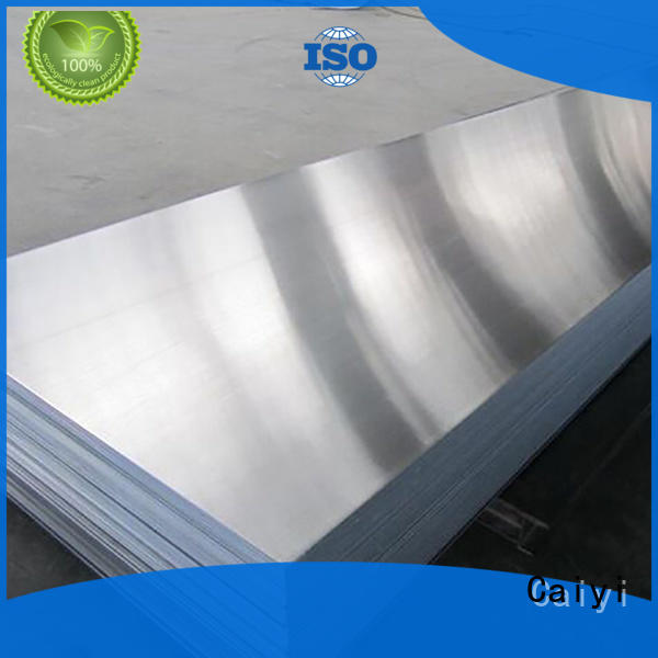 Caiyi low high polished aluminum sheet supplier for nameplates