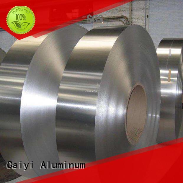 coated stripaluminum embossedorange Caiyi Brand 1050 aluminum coil manufacture