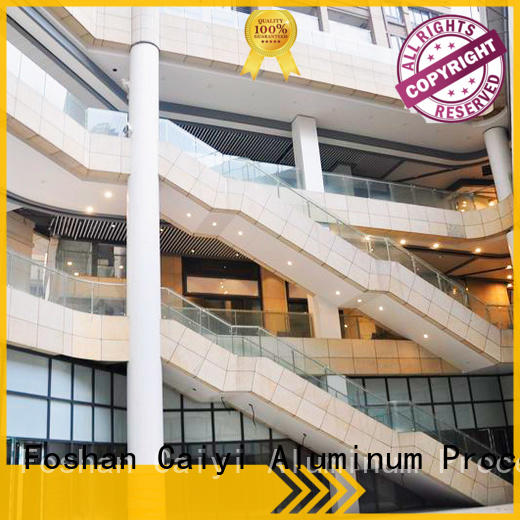 Caiyi composite aluminum composite panel price customization for hardware