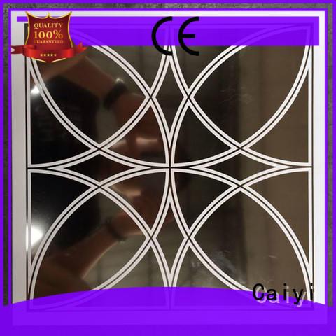 wood aluminum composite sign panel grain Caiyi company