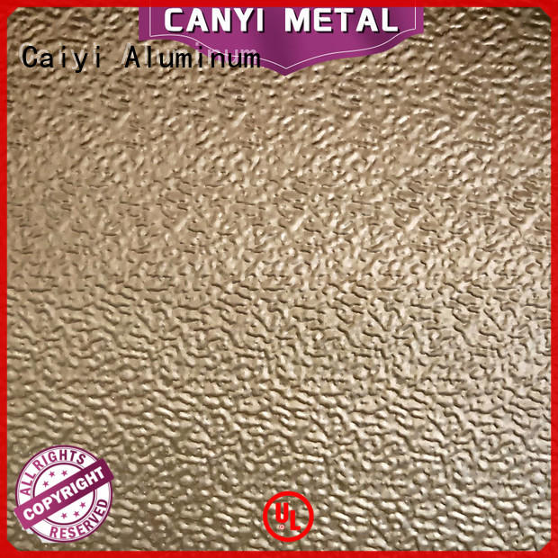 Caiyi aluminum foil sheets brand for industry