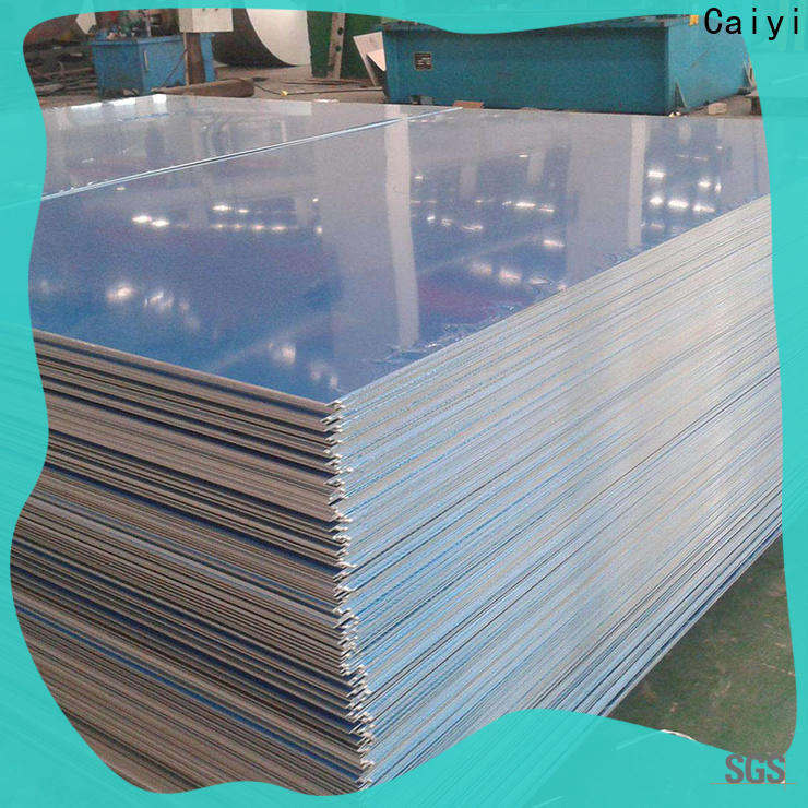 Caiyi embossed aluminium alloy sheet wholesale for stoppers