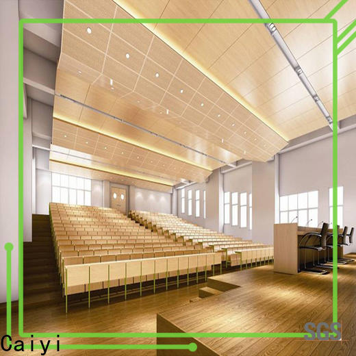 Caiyi waterproof aluminum composite panel price factory for ceiling