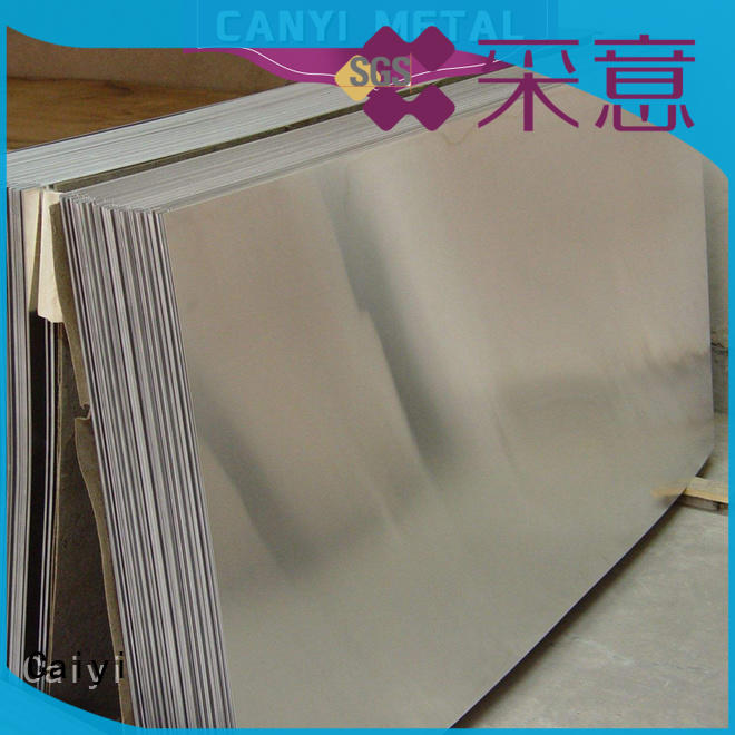 Caiyi embossed 3003 aluminum plate export worldwide for baffles