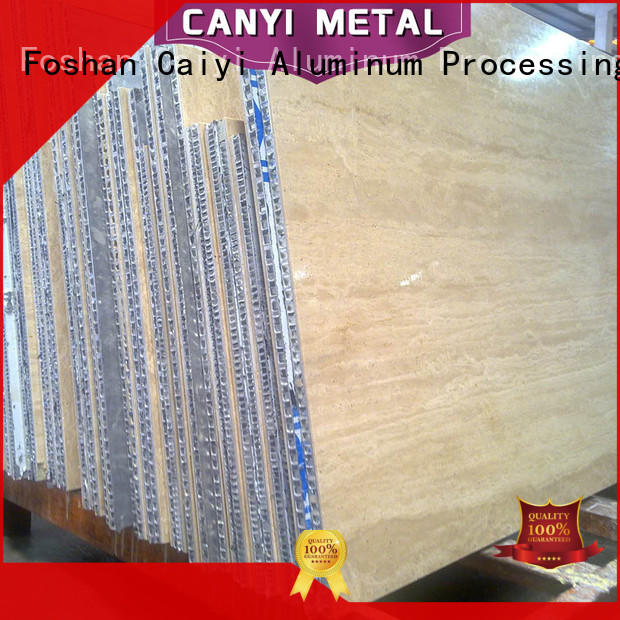 Caiyi aluminum honeycomb panels factory for decoration