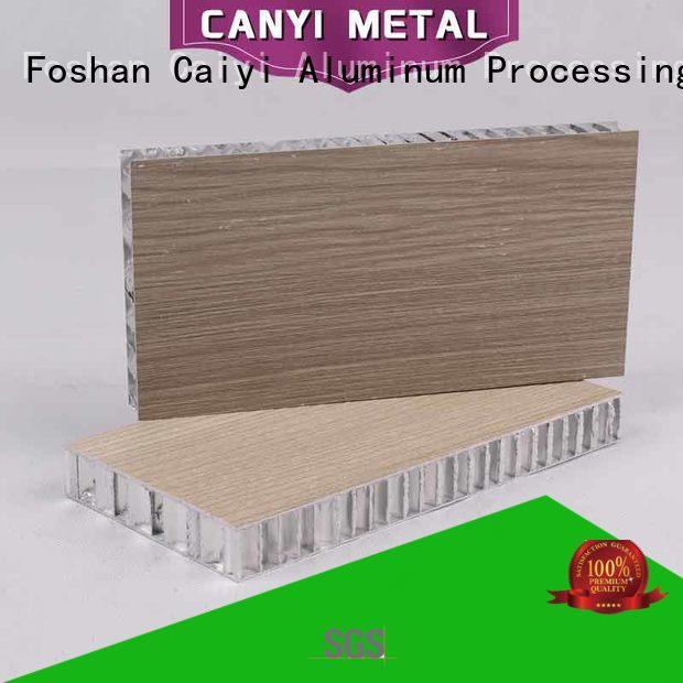 Caiyi custom aluminum honeycomb manufacturer for curtain wall