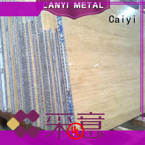 Caiyi finest aluminum honeycomb manufacturer for construction