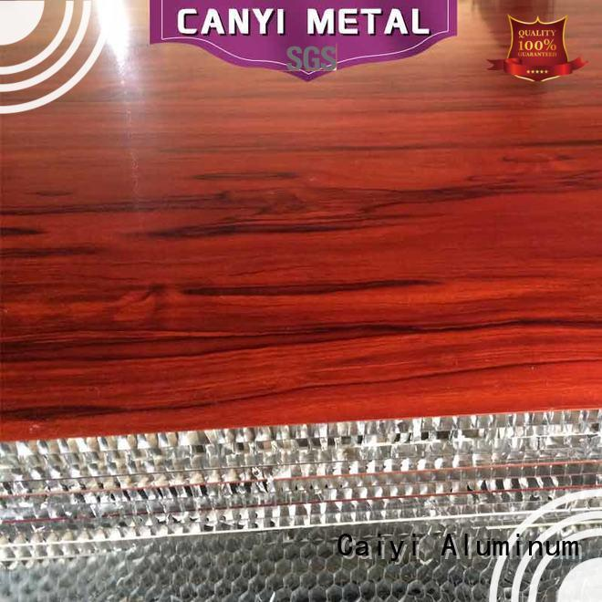 Caiyi high standard aluminum honeycomb quick delivery for decoration