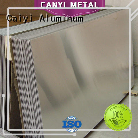 Caiyi coated 3003 aluminum sheet supplier for factory