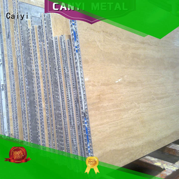 Caiyi fireproof honeycomb sheet fast shipping for curtain wall