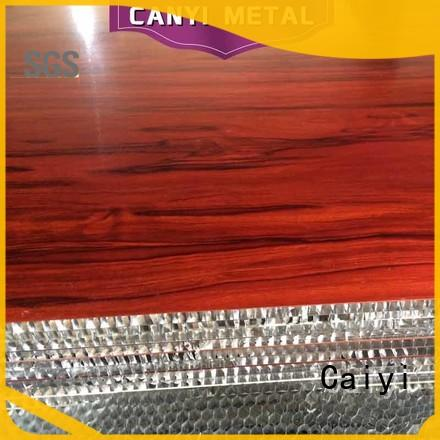 Caiyi fireproof aluminum honeycomb panels fast shipping for decoration
