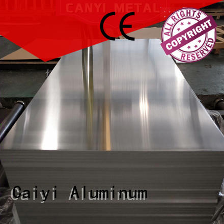Caiyi aluminium alloy sheet brand for stoppers